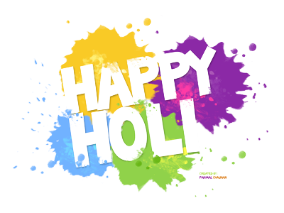 Happy Holi Text Png Transparent Photo