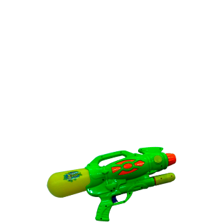Green Royal Holi Color Water Gun Png