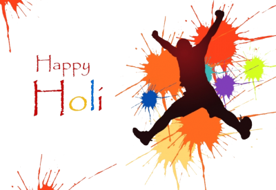 Man Paint Happy Holi Text Png Transparent PNG Images