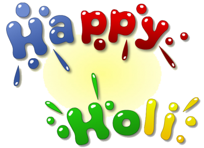 Simple Happy Holi Text Png Transparent Image