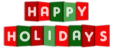 Happy Holidays Banner Blue Pictures PNG Images