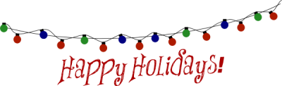 Happy Holidays Lights Clip Art PNG Images