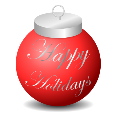 Metal Happy Holidays Png Transparent