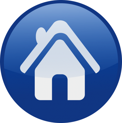 Home Blue Circle Icon
