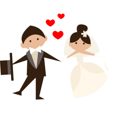 Honeymoon, Wedding Couple, Groom, Bride, People, Romantic Icon Png PNG Images