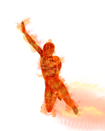 Gold Human Torch Png Transparent Image