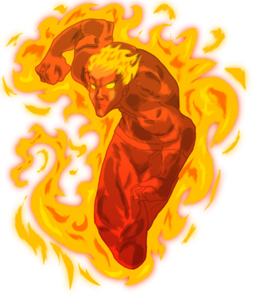Human Torch, Man, Game, Cartoon, Fire Game, Fire, Png