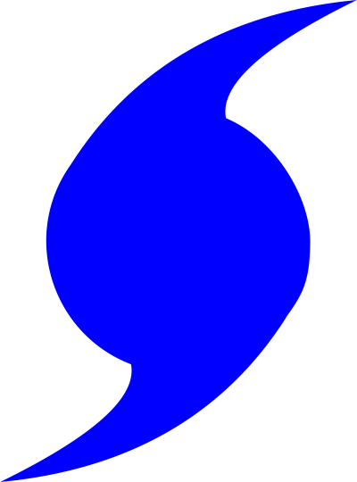 Clipart Blue Hurricane Symbol Pictures