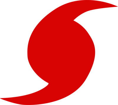 Red Weather Symbol For Hurricane Clipart
