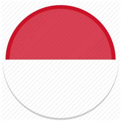 Circle Flag Flags Indonesia Round Icon