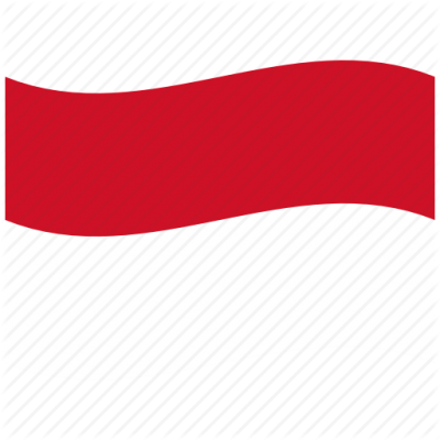 Indonesia Flag Sacred Waving Flag White