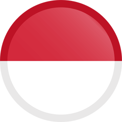 Indonesia Flag Icon Symbol Circle