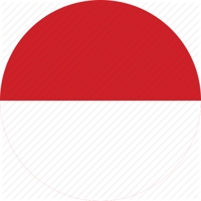 Circle Circular Country Indonesia Flags PNG Images
