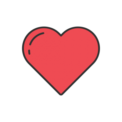 Free Instagram Heart Cut Out PNG Images