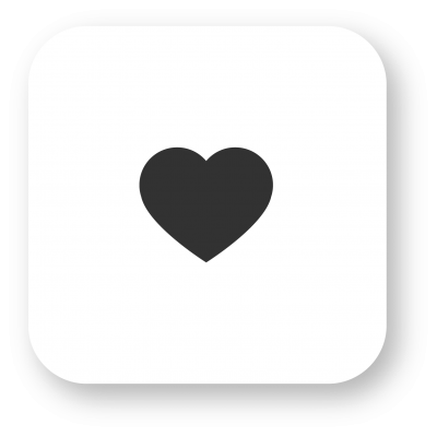 Instagram Heart, White, Square Transparent Background