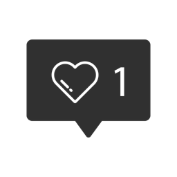 One Like Icon, Instagram Heart Picture