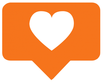 Instagram Heart Orange PNG Picture