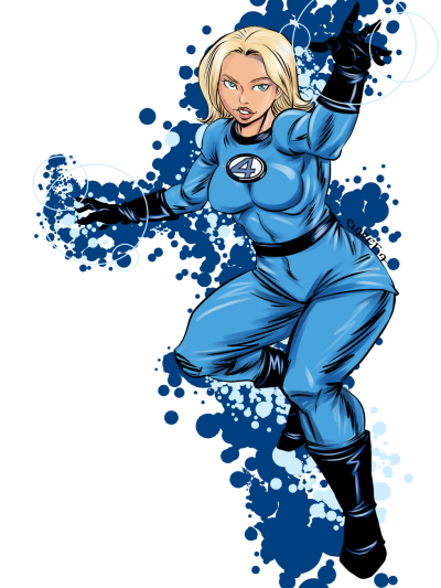 Blue Star Invisible Woman Pictures PNG Images