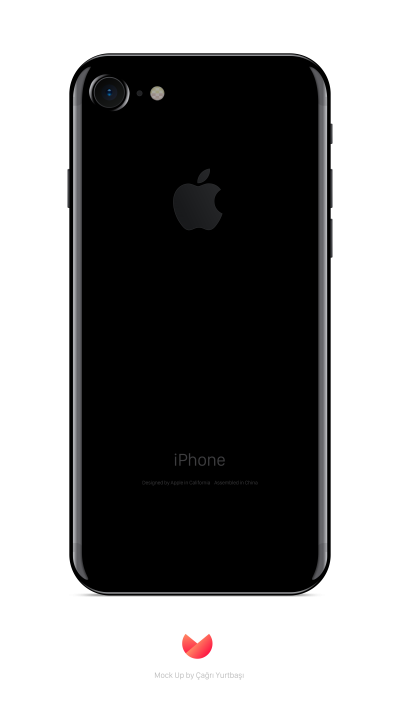 Black iphone Back View Transparent Background PNG Images
