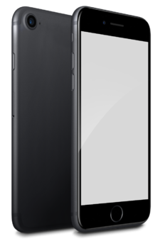 Front And Rear View Gray iphone 7 Png Clipart PNG Images