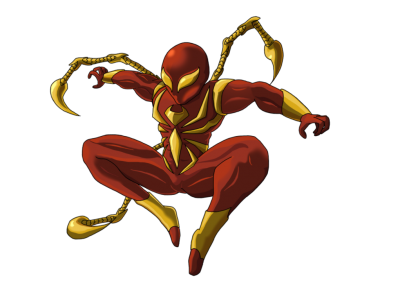 Iron Spiderman Vector PNG Images