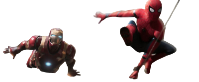 Iron Spiderman Vectors PNG Images