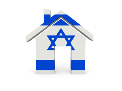 Israel Flag On Home Icon Clipart