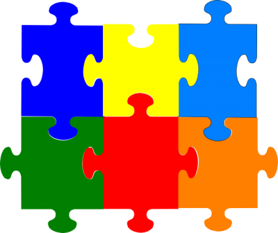 Jigsaw Puzzle Pieces Clip Art Picture