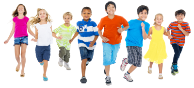 Children Running, Kids Clipart PNG File PNG Images