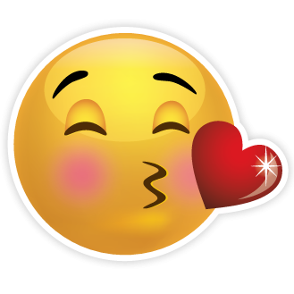 Kiss Smiley With Heart Clipart Photo PNG Images