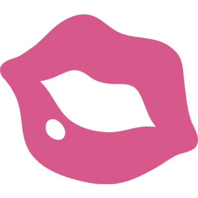 Pink Kiss Mark Emoji PNG