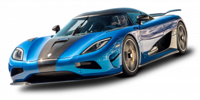 Blue Koenigsegg Free Cut Out