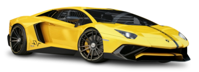 Yellow Lamborghini Aventador High Quality PNG