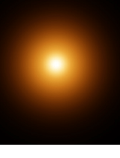 Bright Round Orange Light Transparent Image, Wonderful Light, Sparkling, Shimmering