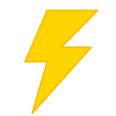 Yellow Lightning Clipart Png