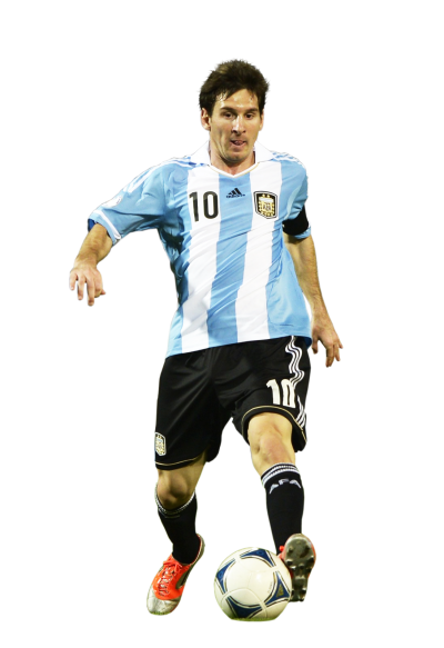 Lionel Messi Free Cut Out