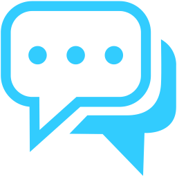 Blue Live Chat Hd Image PNG Images