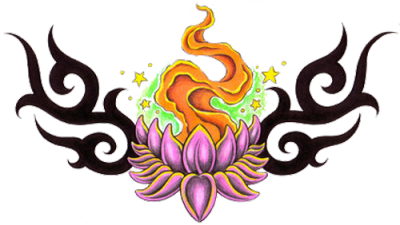 Simple Lotus Tattoos PNG Images