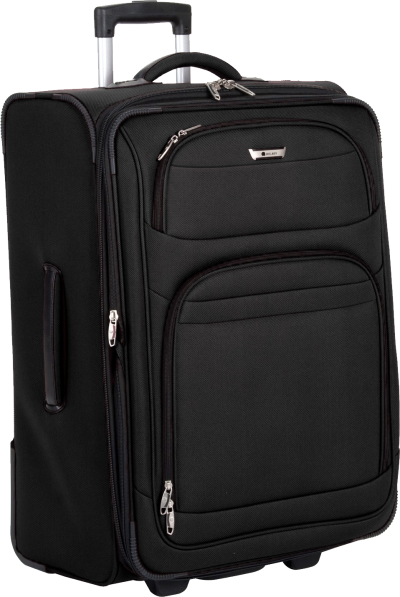 Elegant Black Luggage Transparent Picture