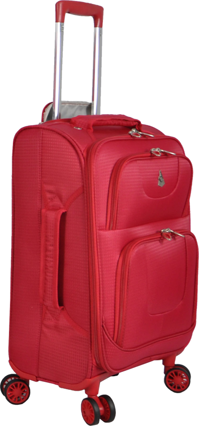 Wheeled Red Luggage Image
