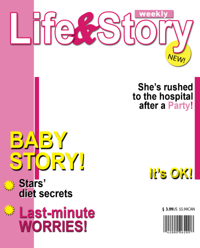 Magazine Cover Template Png