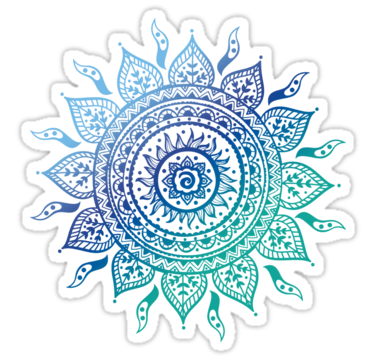 Blue, Doodle, Flower, Hindu, indian, Mandala, Yoga, Zen images PNG Images
