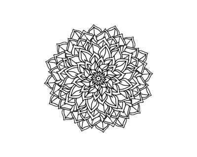 Mandala Tattoo Simple Transparent Png PNG Images