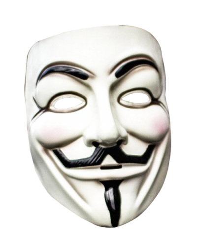 White Anonymous Mask Png Transparent Image