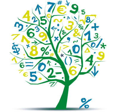 Yellow And Green Number Tree Math Clipart Free Download PNG Images