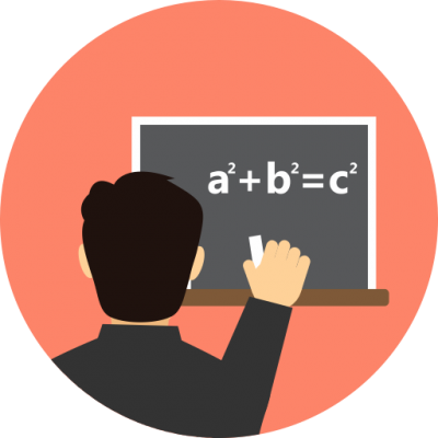 Digital Student Doing Operations Math Transparent Clipart PNG Images