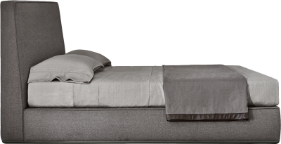 Grey Bed, Leather Heading Wooden, Cushion Pillow, Chipboard, Png