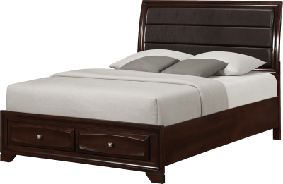 Withdrawable Bed, Luxe Bed, Leather Cap, Dark Bed Png