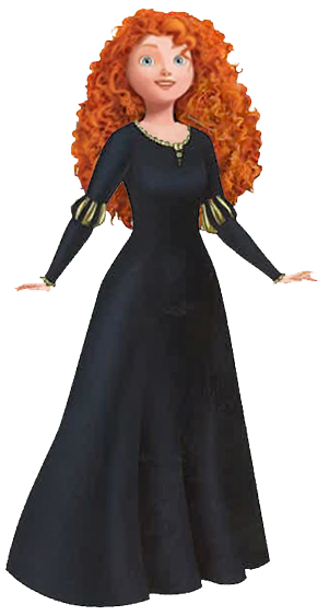 Disney Black Merida Clipart