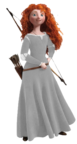White Transparent Merida Whose Dress Pictures